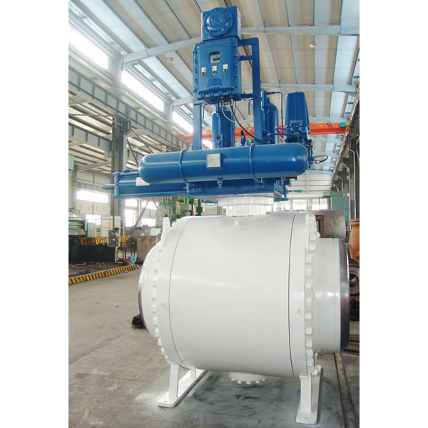 Gas Over Oil Actuated Ball Valve